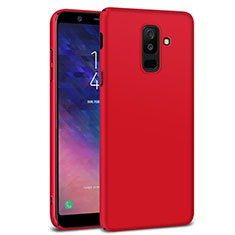 Hard Rigid Plastic Matte Finish Case M02 for Samsung Galaxy A6 Plus Red