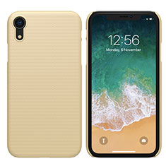 Hard Rigid Plastic Matte Finish Cover for Apple iPhone XR Gold
