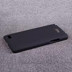 Hard Rigid Plastic Matte Finish Cover for LG L Bello 2 Black