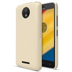 Hard Rigid Plastic Matte Finish Cover for Motorola Moto C Plus Gold