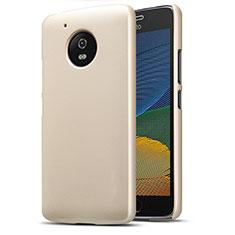 Hard Rigid Plastic Matte Finish Cover for Motorola Moto G5 Gold