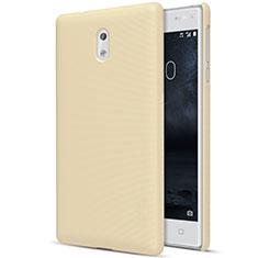 Hard Rigid Plastic Matte Finish Cover for Nokia 3 Gold