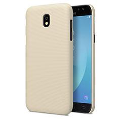 Hard Rigid Plastic Matte Finish Cover for Samsung Galaxy J7 Pro Gold