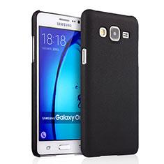 Hard Rigid Plastic Matte Finish Cover for Samsung Galaxy On7 Pro Black