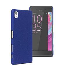 Hard Rigid Plastic Matte Finish Cover for Sony Xperia X Blue