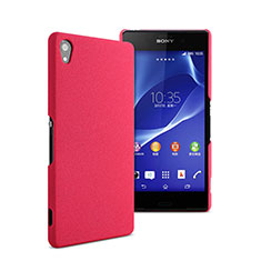 Hard Rigid Plastic Matte Finish Cover for Sony Xperia Z2 Hot Pink