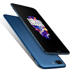 Hard Rigid Plastic Matte Finish Cover M01 for OnePlus 5 Blue