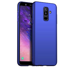 Hard Rigid Plastic Matte Finish Cover M03 for Samsung Galaxy A6 Plus Blue