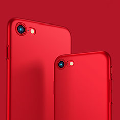 Hard Rigid Plastic Matte Finish Cover M10 for Apple iPhone 8 Red