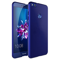 Hard Rigid Plastic Matte Finish Cover with Finger Ring Stand for Huawei GR3 (2017) Blue
