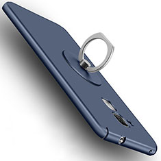 Hard Rigid Plastic Matte Finish Cover with Finger Ring Stand for Huawei GT3 Blue