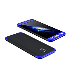 Hard Rigid Plastic Matte Finish Front and Back Cover 360 Degrees for Samsung Galaxy J7 Pro Blue and Black