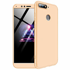 Hard Rigid Plastic Matte Finish Front and Back Cover Case 360 Degrees for Huawei Enjoy 8e Gold