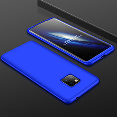 Hard Rigid Plastic Matte Finish Front and Back Cover Case 360 Degrees for Huawei Mate 20 Pro Blue