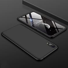 Hard Rigid Plastic Matte Finish Front and Back Cover Case 360 Degrees for Huawei Y7 Prime (2019) Black