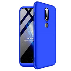 Hard Rigid Plastic Matte Finish Front and Back Cover Case 360 Degrees for Nokia 6.1 Plus Blue