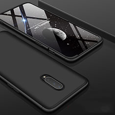 Hard Rigid Plastic Matte Finish Front and Back Cover Case 360 Degrees for OnePlus 7 Pro Black