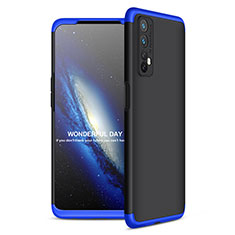 Hard Rigid Plastic Matte Finish Front and Back Cover Case 360 Degrees for Realme Narzo 20 Pro Blue and Black