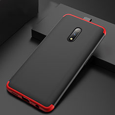 Hard Rigid Plastic Matte Finish Front and Back Cover Case 360 Degrees for Realme X Red and Black