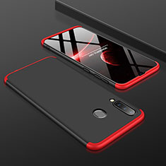 Hard Rigid Plastic Matte Finish Front and Back Cover Case 360 Degrees for Samsung Galaxy A30 Red and Black