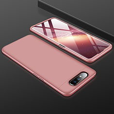Hard Rigid Plastic Matte Finish Front and Back Cover Case 360 Degrees for Samsung Galaxy A90 4G Rose Gold
