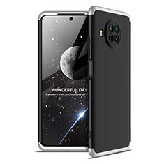 Hard Rigid Plastic Matte Finish Front and Back Cover Case 360 Degrees for Xiaomi Mi 10T Lite 5G Silver and Black