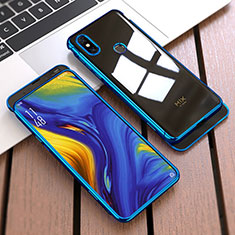 Hard Rigid Plastic Matte Finish Front and Back Cover Case 360 Degrees for Xiaomi Mi Mix 3 Blue