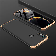 Hard Rigid Plastic Matte Finish Front and Back Cover Case 360 Degrees for Xiaomi Redmi 7 Gold and Black