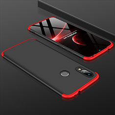 Hard Rigid Plastic Matte Finish Front and Back Cover Case 360 Degrees for Xiaomi Redmi 7 Red and Black