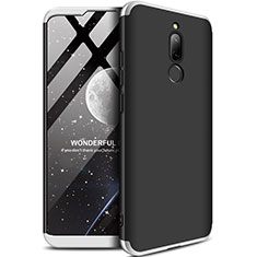 Hard Rigid Plastic Matte Finish Front and Back Cover Case 360 Degrees M01 for Xiaomi Redmi 8 Silver and Black