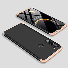 Hard Rigid Plastic Matte Finish Front and Back Cover Case 360 Degrees M01 for Xiaomi Redmi Note 8 Gold and Black