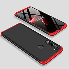 Hard Rigid Plastic Matte Finish Front and Back Cover Case 360 Degrees M01 for Xiaomi Redmi Note 8T Red and Black