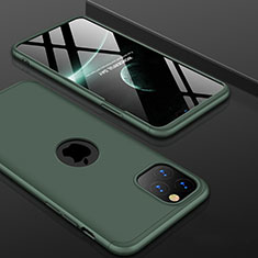 Hard Rigid Plastic Matte Finish Front and Back Cover Case 360 Degrees P01 for Apple iPhone 11 Pro Max Green