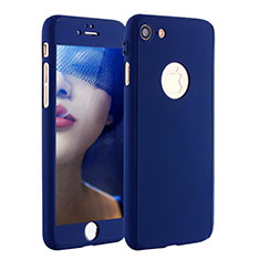 Hard Rigid Plastic Matte Finish Front and Back Cover Case 360 Degrees P01 for Apple iPhone SE (2020) Blue