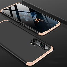 Hard Rigid Plastic Matte Finish Front and Back Cover Case 360 Degrees P01 for Huawei Honor 20 Pro Gold and Black