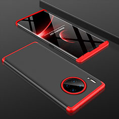 Hard Rigid Plastic Matte Finish Front and Back Cover Case 360 Degrees P01 for Huawei Mate 30 Pro 5G Red and Black