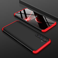 Hard Rigid Plastic Matte Finish Front and Back Cover Case 360 Degrees P01 for Realme X50 Pro 5G Red and Black
