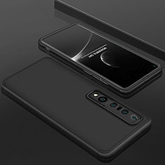 Hard Rigid Plastic Matte Finish Front and Back Cover Case 360 Degrees P01 for Xiaomi Mi 10 Pro Black