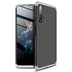 Hard Rigid Plastic Matte Finish Front and Back Cover Case 360 Degrees P02 for Huawei Nova 5T Silver