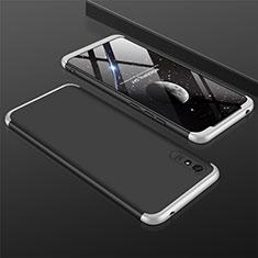 Hard Rigid Plastic Matte Finish Front and Back Cover Case 360 Degrees P03 for Xiaomi Redmi 9i Silver and Black