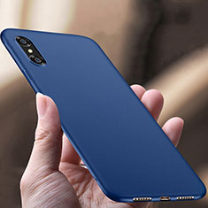 Hard Rigid Plastic Matte Finish Snap On Case for Apple iPhone Xs Max Blue