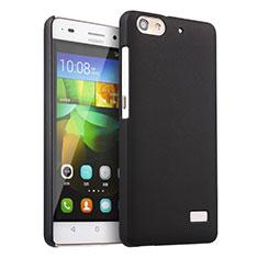 Hard Rigid Plastic Matte Finish Snap On Case for Huawei G Play Mini Black