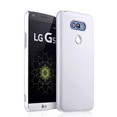 Hard Rigid Plastic Matte Finish Snap On Case for LG G5 White