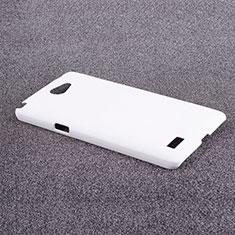 Hard Rigid Plastic Matte Finish Snap On Case for LG L Bello 2 White