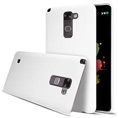 Hard Rigid Plastic Matte Finish Snap On Case for LG Stylus 2 Plus White