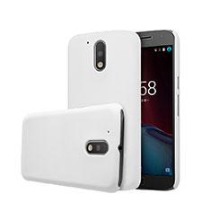 Hard Rigid Plastic Matte Finish Snap On Case for Motorola Moto G4 Plus White