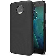Hard Rigid Plastic Matte Finish Snap On Case for Motorola Moto G5S Plus Black