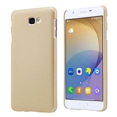 Hard Rigid Plastic Matte Finish Snap On Case for Samsung Galaxy J7 Prime Gold