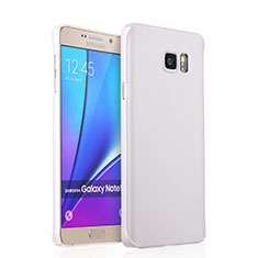 Hard Rigid Plastic Matte Finish Snap On Case for Samsung Galaxy Note 5 N9200 N920 N920F White