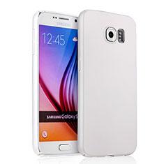 Hard Rigid Plastic Matte Finish Snap On Case for Samsung Galaxy S6 SM-G920 White